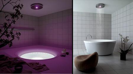потолочный душ со светодиодной подсветкой