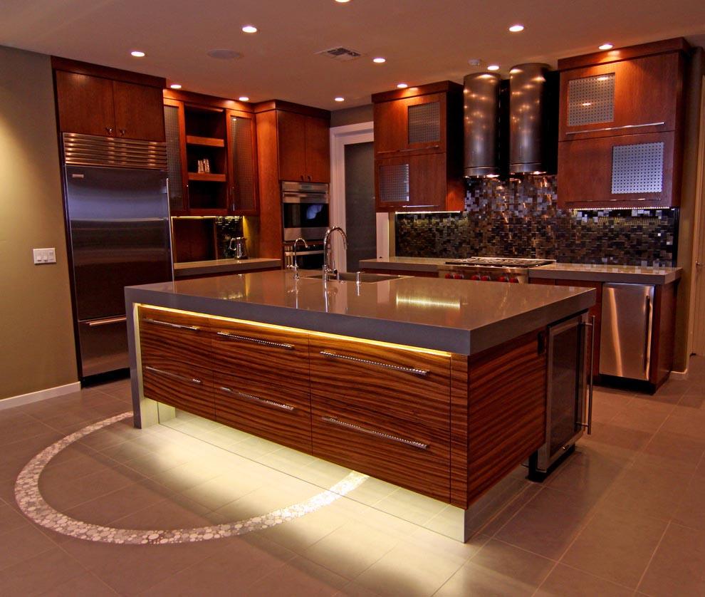 светодиодная подсветка кухонного острова