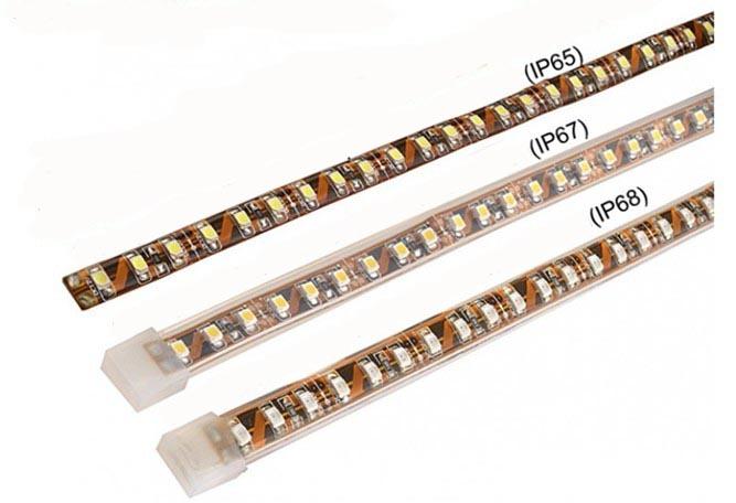 Внешний вид светодиодных лент с IP65 IP65 IP68